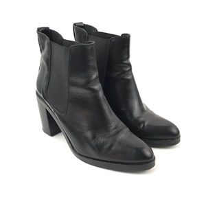 Topshop | Leather Ankle Boots Booties Size 8.5